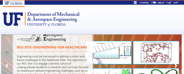UFL MAE has a new website! | Academic Web Pages