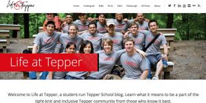 Life at Tepper has a new blog!