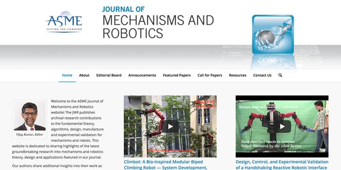 ASME Journal of Mechanisms and Robotics