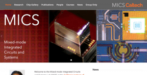 The Mixed-mode Integrated Circuits and Systems Lab (MICS) at Caltech has a new website!