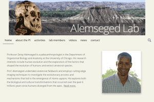 New Website for Zeray Alemseged, paleoanthropologist