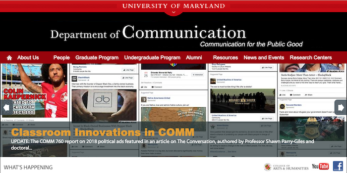 Department of Communications | Academic Web Pages