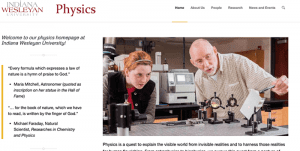 Indiana Wesleyan University Department of Physics has a new website!