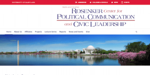 The Rosenker Center for Political Communication and Civic Leadership has a new website!