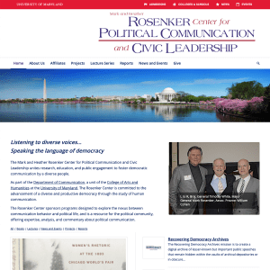 The Mark and Heather Rosenker Center for Political Communication and Civic Leadership